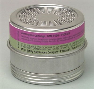 MSA 815184 GMI (P100) Comfo Chemical Respirator Cartridge