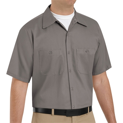 Red Kap Sc40 Men 39 S Wrinkle Resistant Cotton Work Shirt